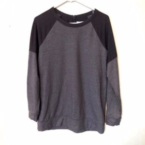Lou & Grey Two Tone Color Block Pullover